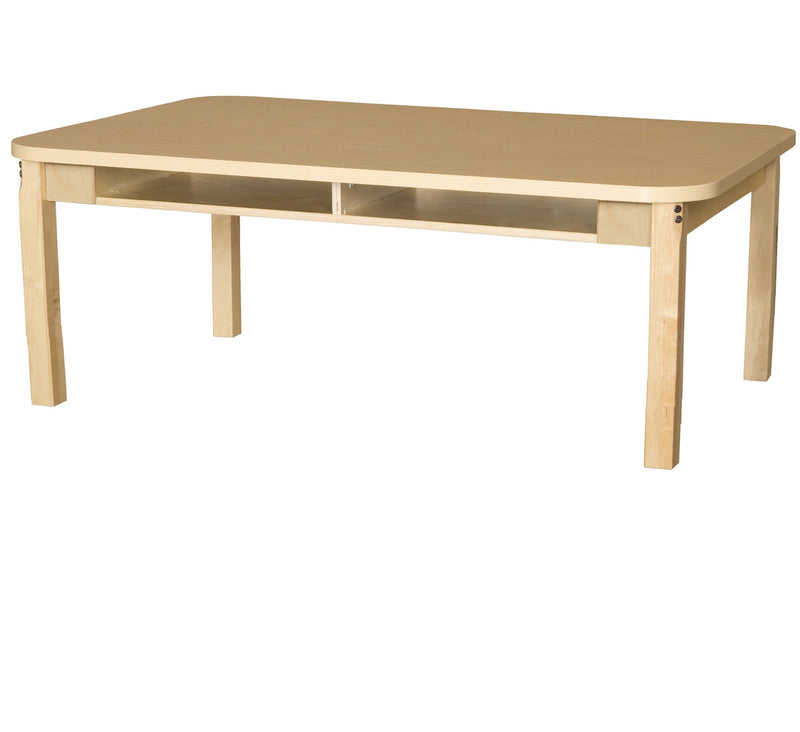"36"" x 60"" Four Seater High Pressure Laminate Desk with Hardwood Legs- 14"""