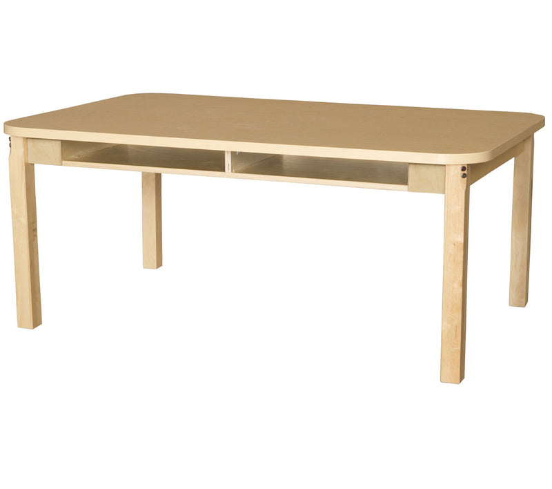 "36"" x 60"" Four Seater High Pressure Laminate Desk with Hardwood Legs- 24"""