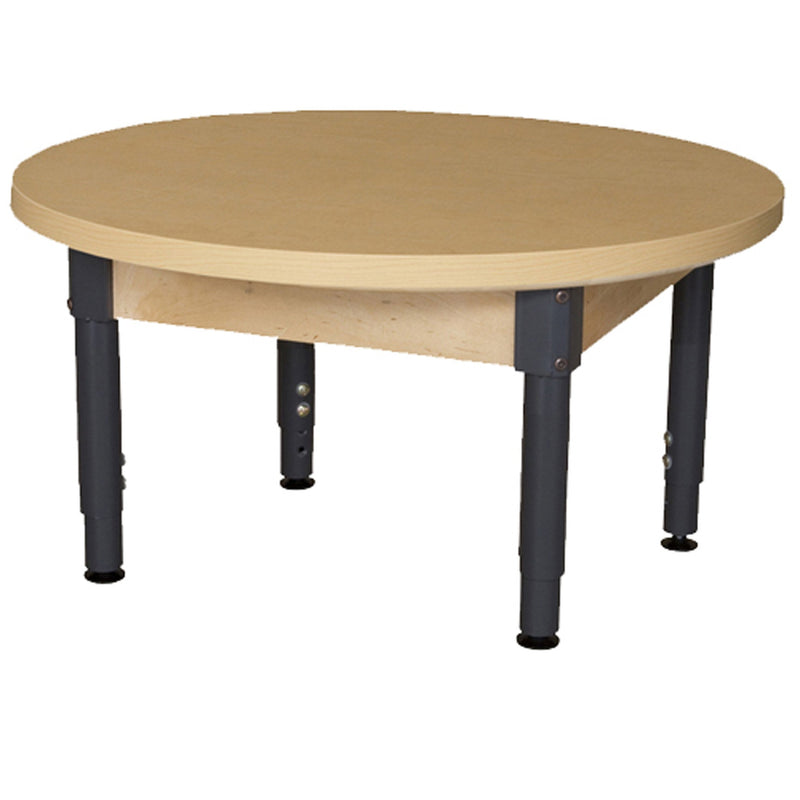 "36"" Round High Pressure Laminate Table with Adjustable Legs 12""-17"""