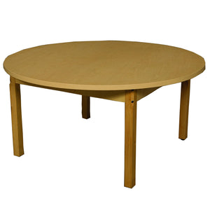 "42"" Round High Pressure Laminate Table with Hardwood Legs- 22"""