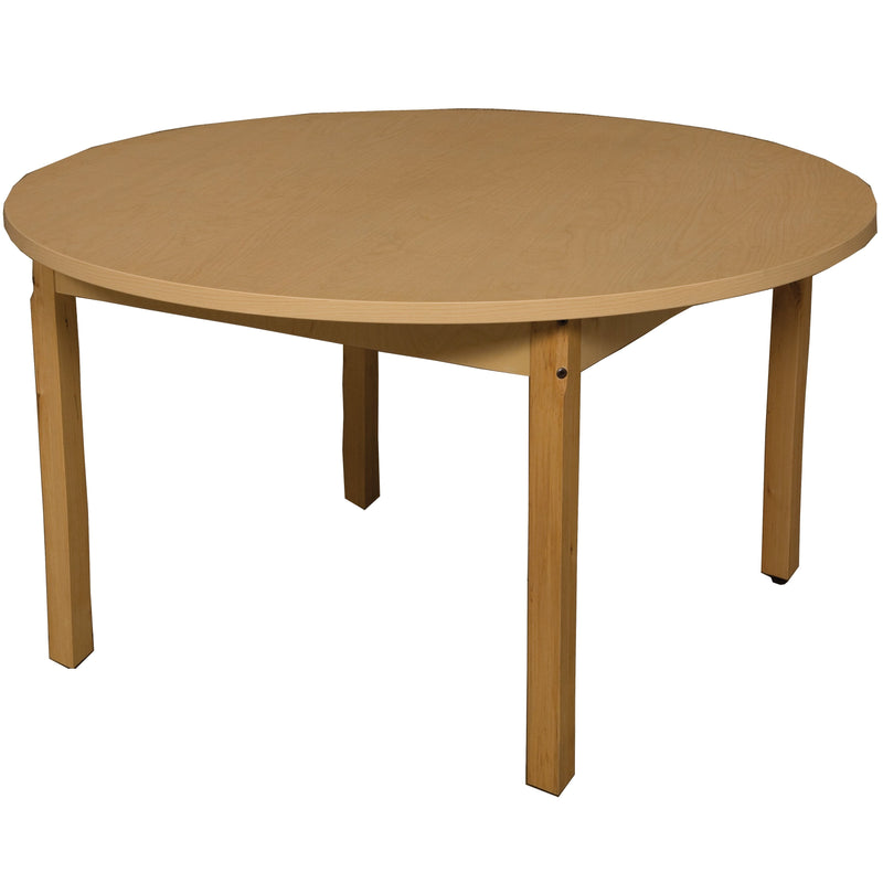 "42"" Round High Pressure Laminate Table with Hardwood Legs- 29"""