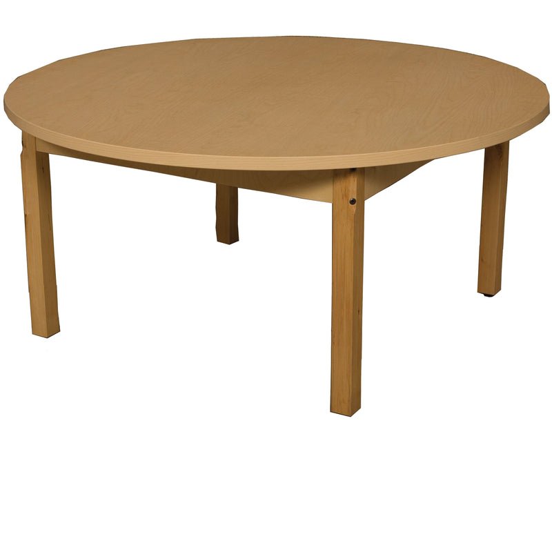 "48"" Round High Pressure Laminate Table with Hardwood Legs- 16"""