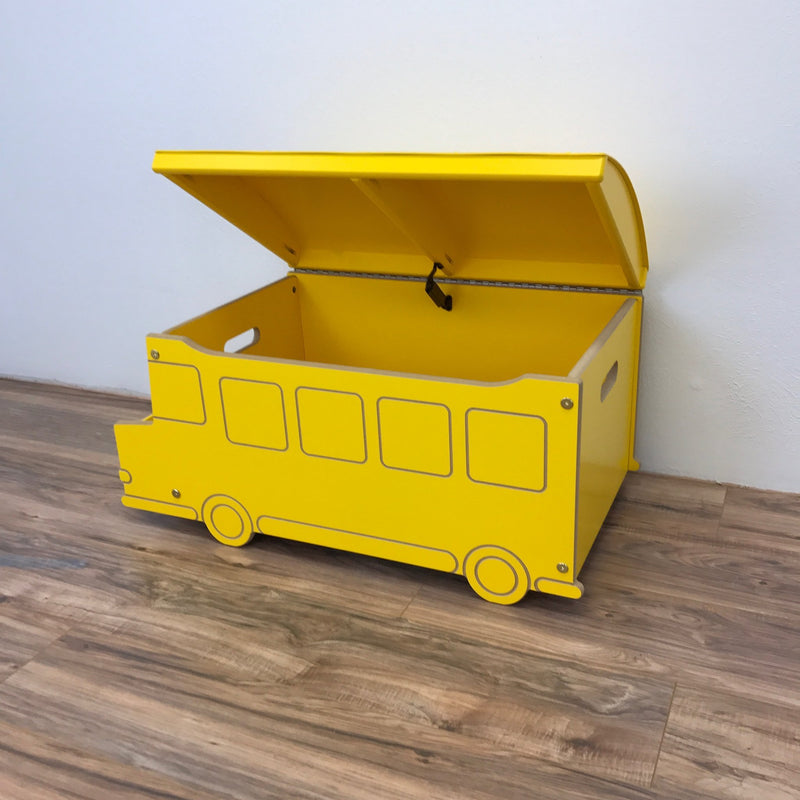 School Bus Toy Box - Yellow