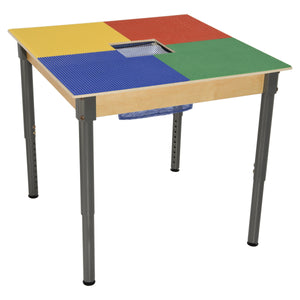 Time-2-Play Lego Compatible Table with Colored Baseplates