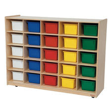 Tip-Me-Not (20) Tray Storage with Colored Trays
