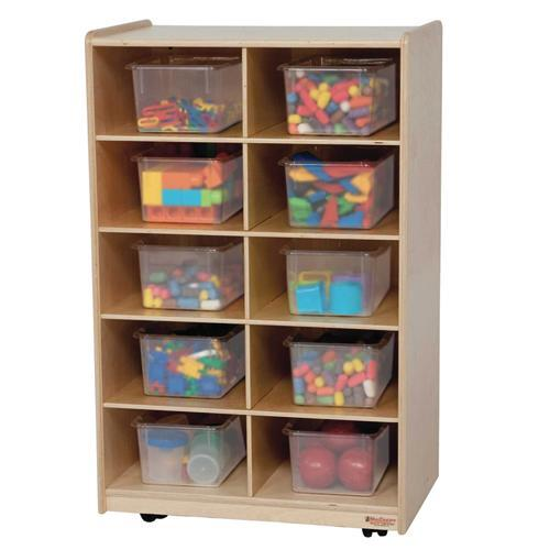 Vertical Storage with (10) Colored Trays