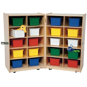 Folding Vertical Storage with (20) Colored Trays