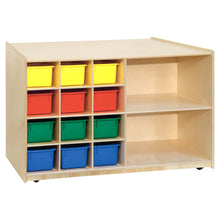 Double Mobile Storage with (12) Colored Trays