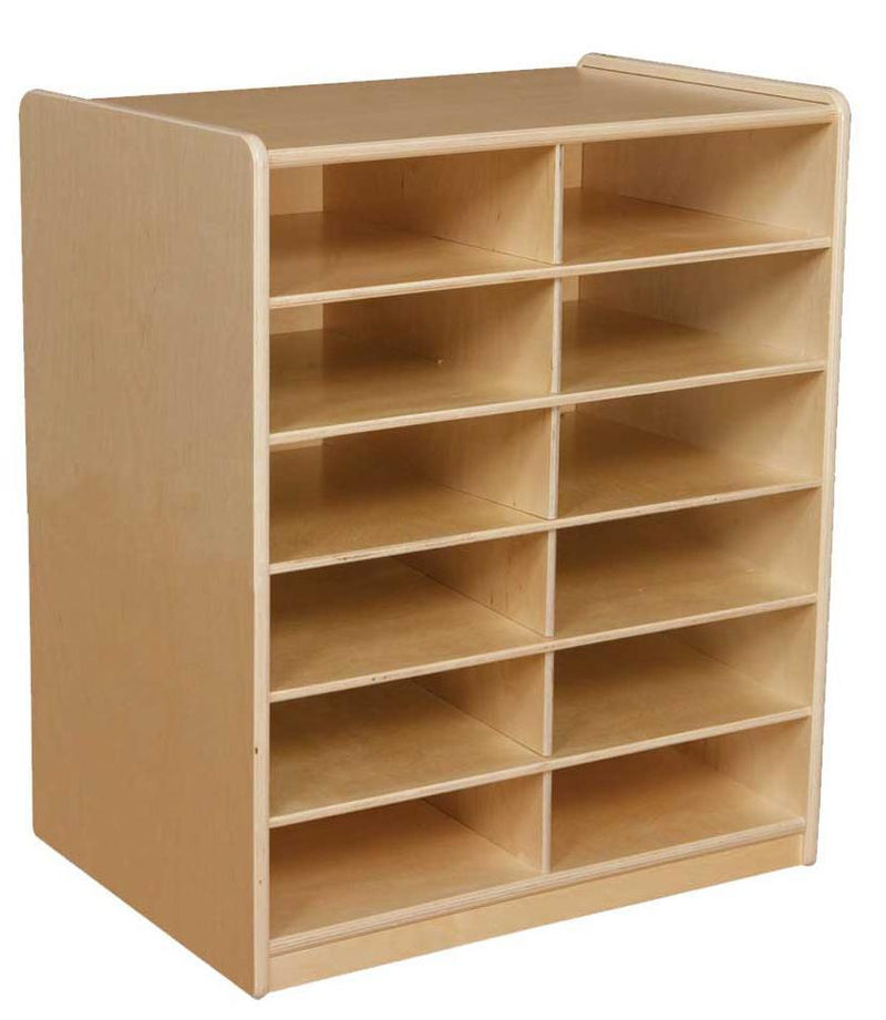 "(12) 3"" Letter Tray Storage Unit without Trays"
