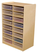 Multi-Configuration Letter Tray Storage Unit with Colored Trays