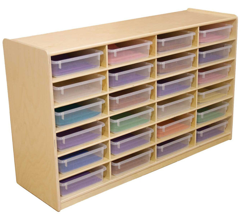 "(24) 3"" Letter Tray Storage Unit with Translucent Trays"