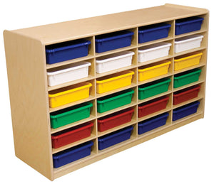 "(24) 3"" Letter Tray Storage Unit with Assorted Trays"