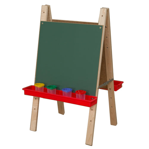Tot Size Double Chalkboard Easel with Trays
