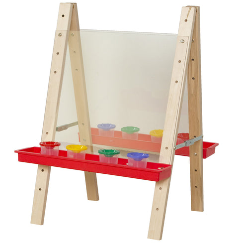 Tot Size Double Acrylic Easel with Trays