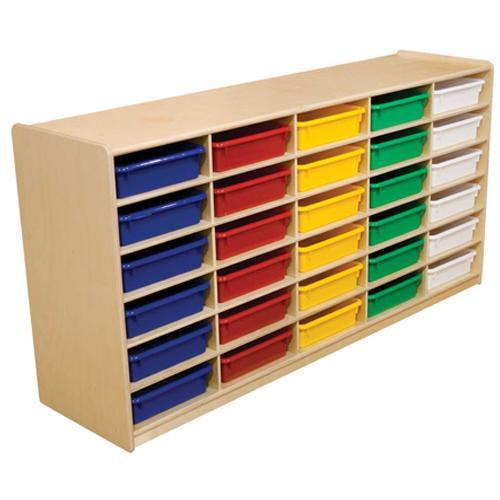 "(30) 3"" Letter Tray Storage Unit with Assorted Trays"