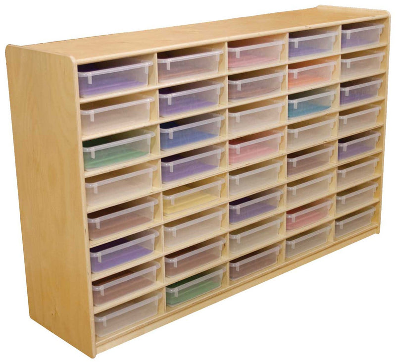 "(40) 3"" Letter Tray Storage Unit with Translucent Trays"