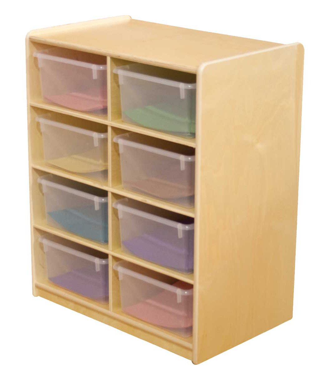 "(8) 5"" Letter Tray Storage Unit with Translucent Trays"