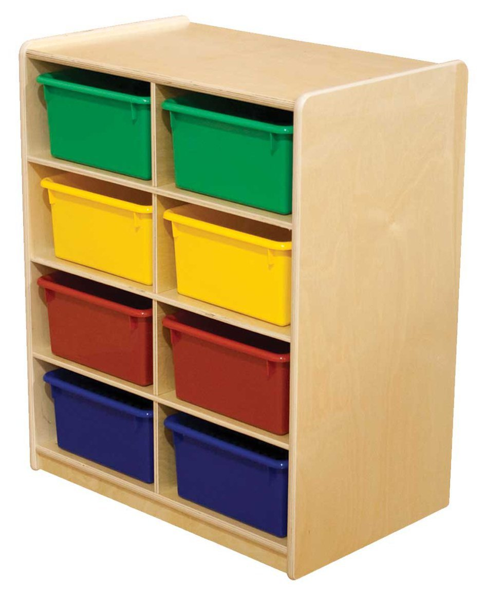 "(8) 5"" Letter Tray Storage Unit with Assorted Trays"