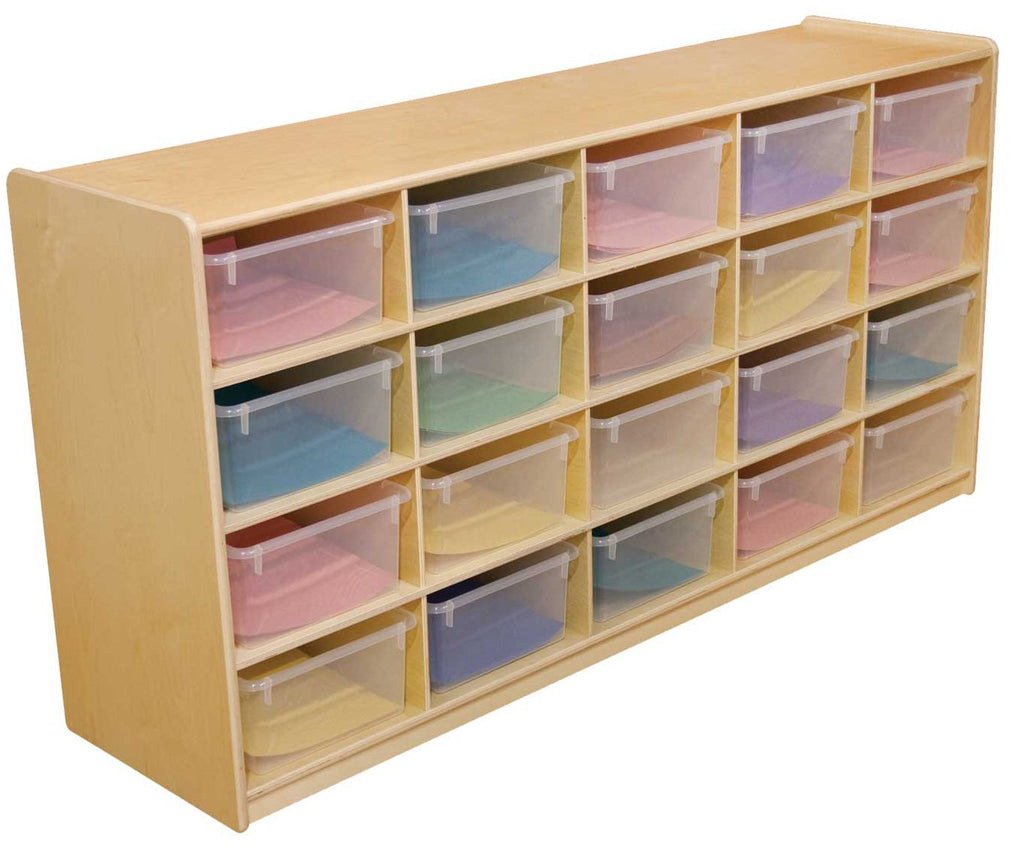 "(20) 5"" Letter Tray Storage Unit with Translucent Trays"