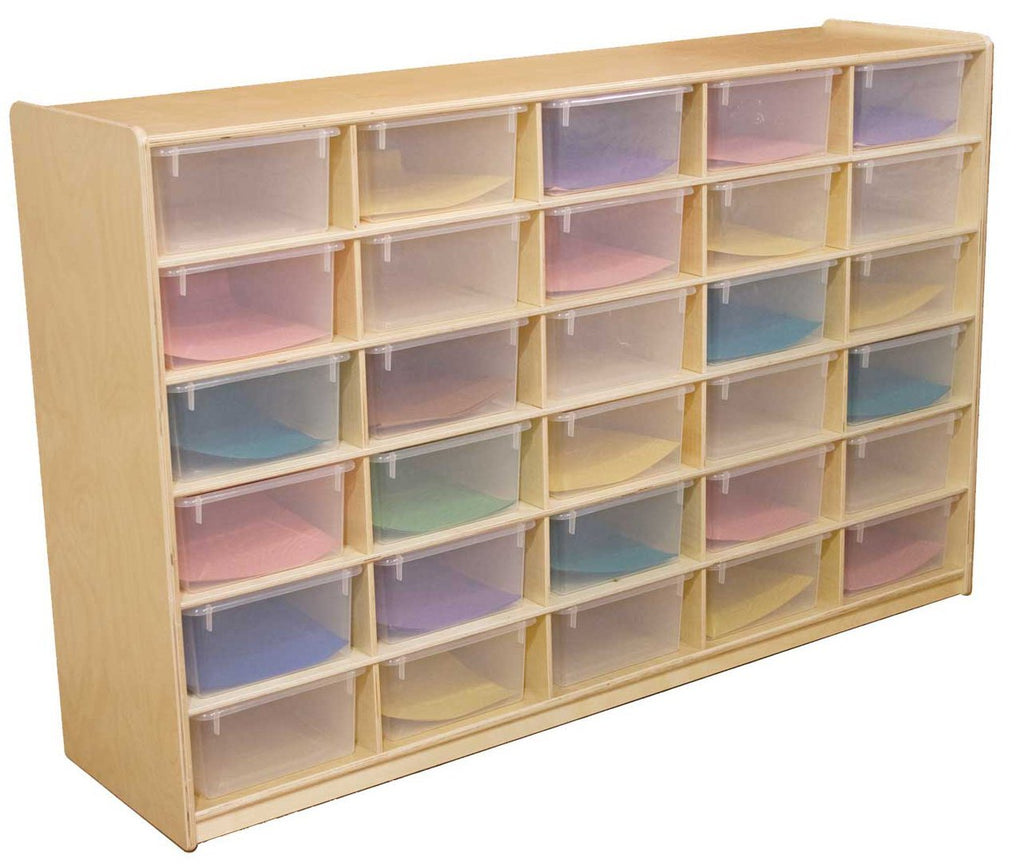 "(30) 5"" Letter Tray Storage Unit with Translucent Trays"