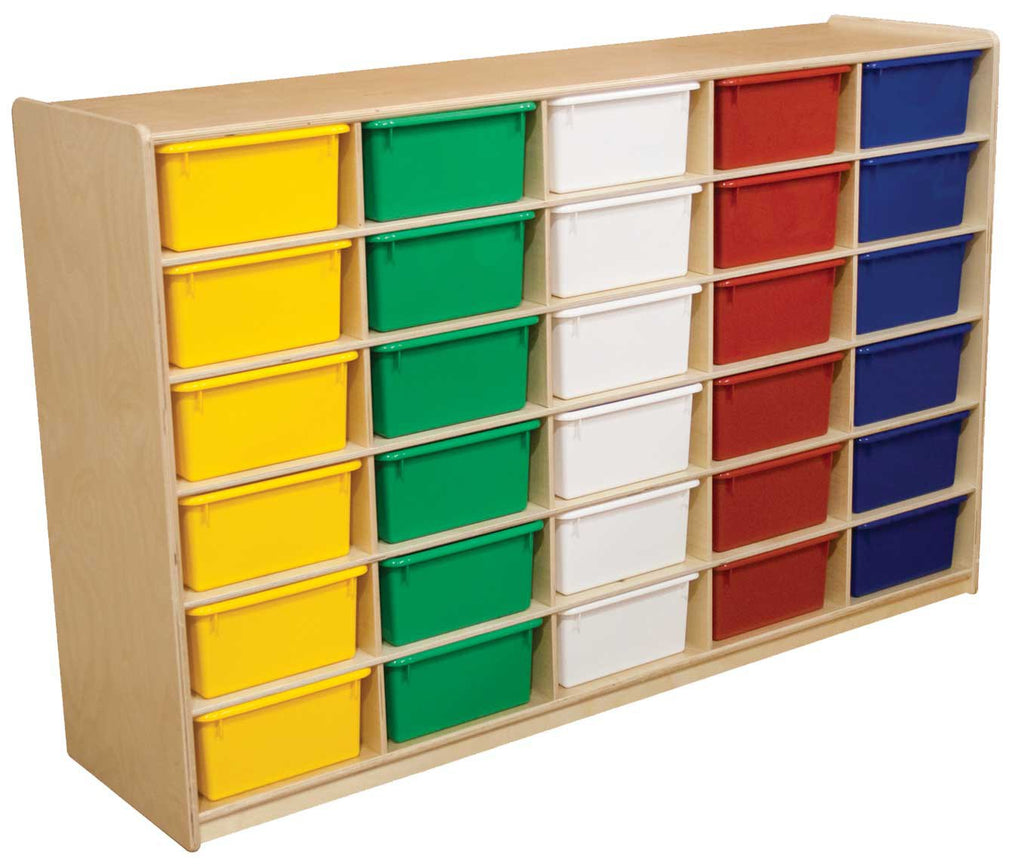 "(30) 5"" Letter Tray Storage Unit with Assorted Trays"