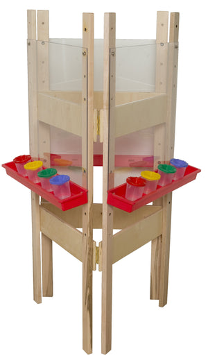 3-Sided Adjustable Easel with Acrylic