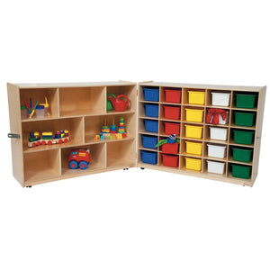 Tray and Shelf Folding Storage with (25) Colored Trays