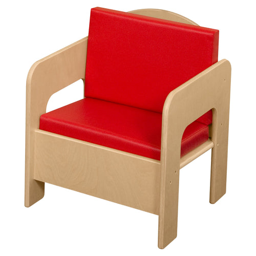 Chair with Colored Cushion