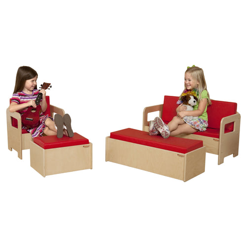 Children's Furniture Set with Colored Cushions