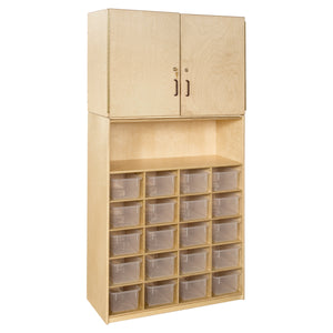 20 Tray Vertical Storage Cabinet with Translucent Trays