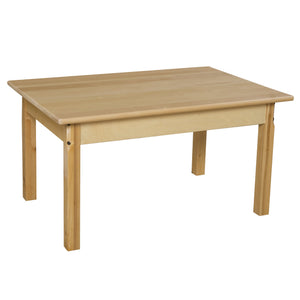 "24"" x 36"" Rectangle Hardwood Table with 18"" Legs"