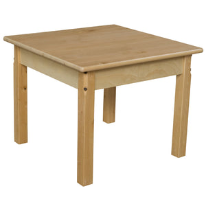 "24"" Square Hardwood Table with 20"" Legs"
