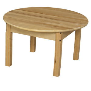 "30"" Round Hardwood Table with 14"" Legs"