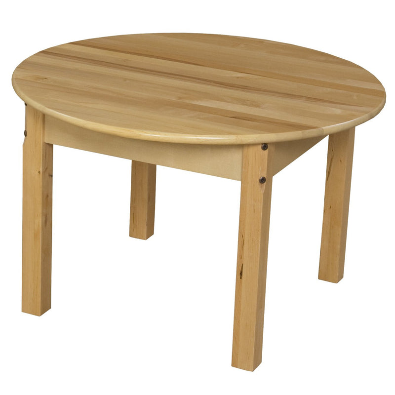 "30"" Round Hardwood Table with 20"" Legs"