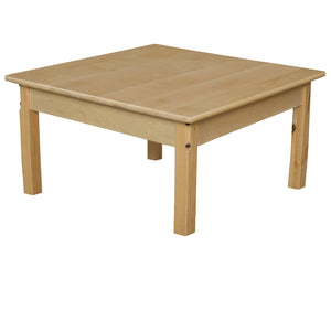"30"" Square Hardwood Table with 14"" Legs"