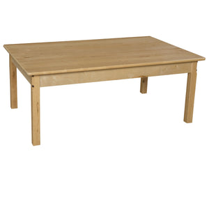 "30"" x 48"" Rectangle Hardwood Table with 20"" Legs"