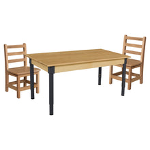 Hardwood Adjustable-Height Table Set with Chairs