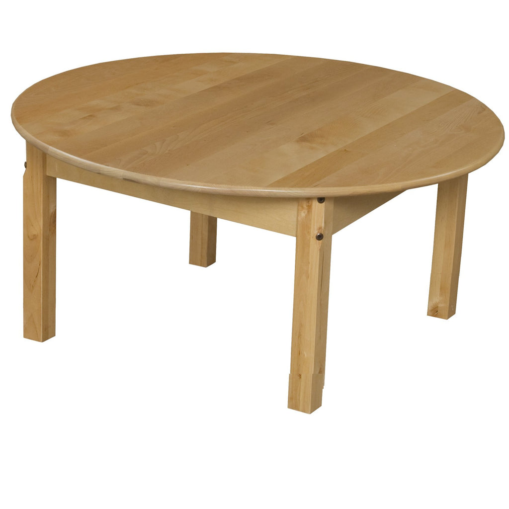"36"" Round Hardwood Table with 14"" Legs"