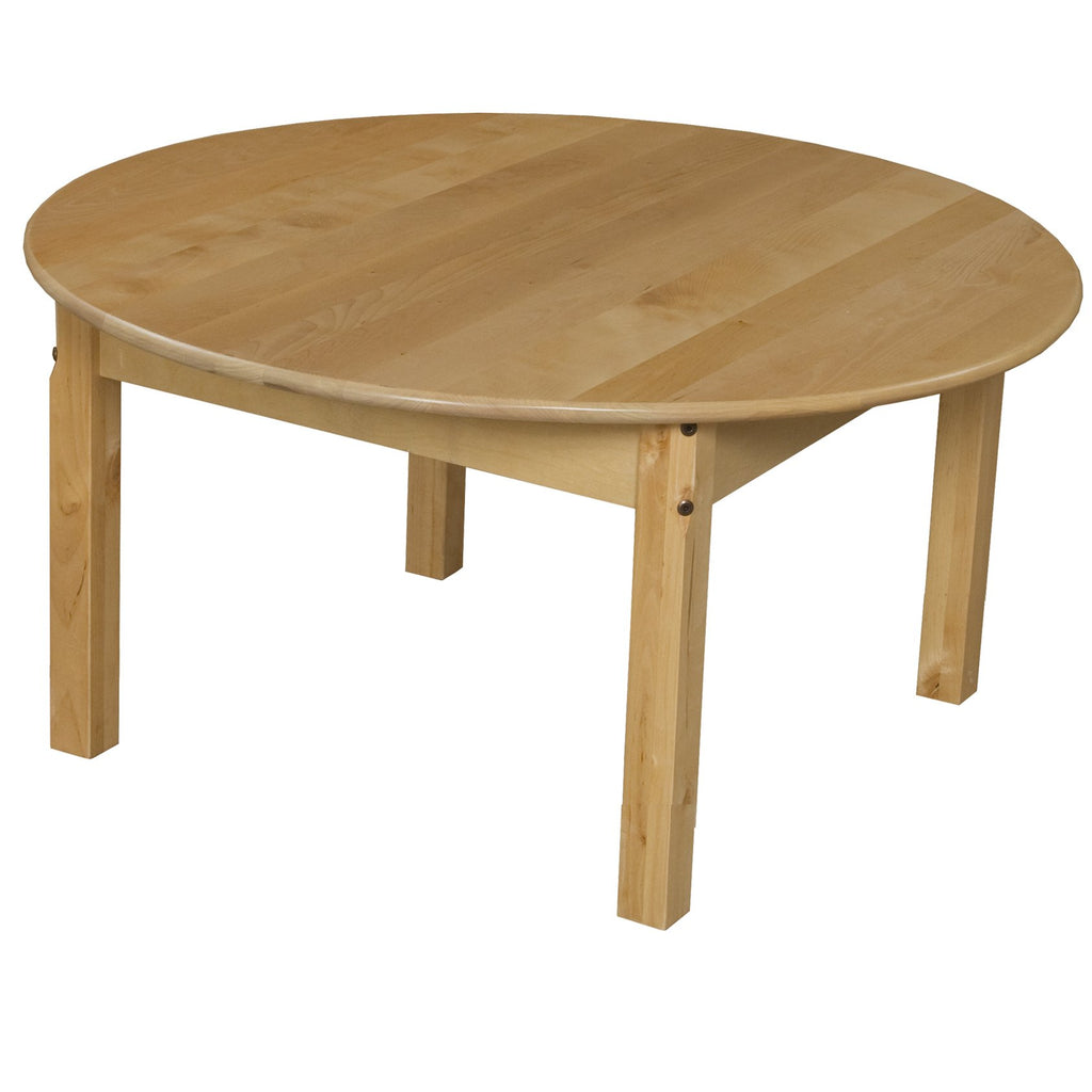 "36"" Round Hardwood Table with 16"" Legs"