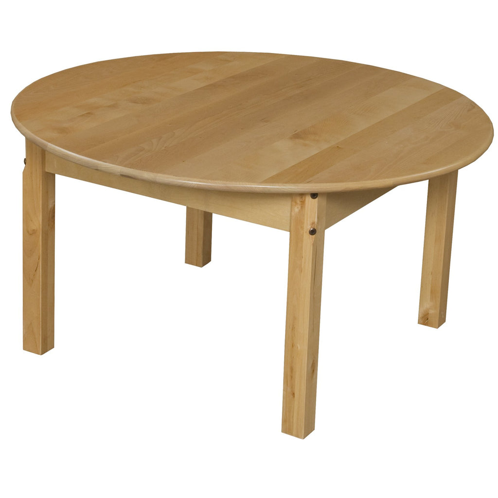 "36"" Round Hardwood Table with 18"" Legs"