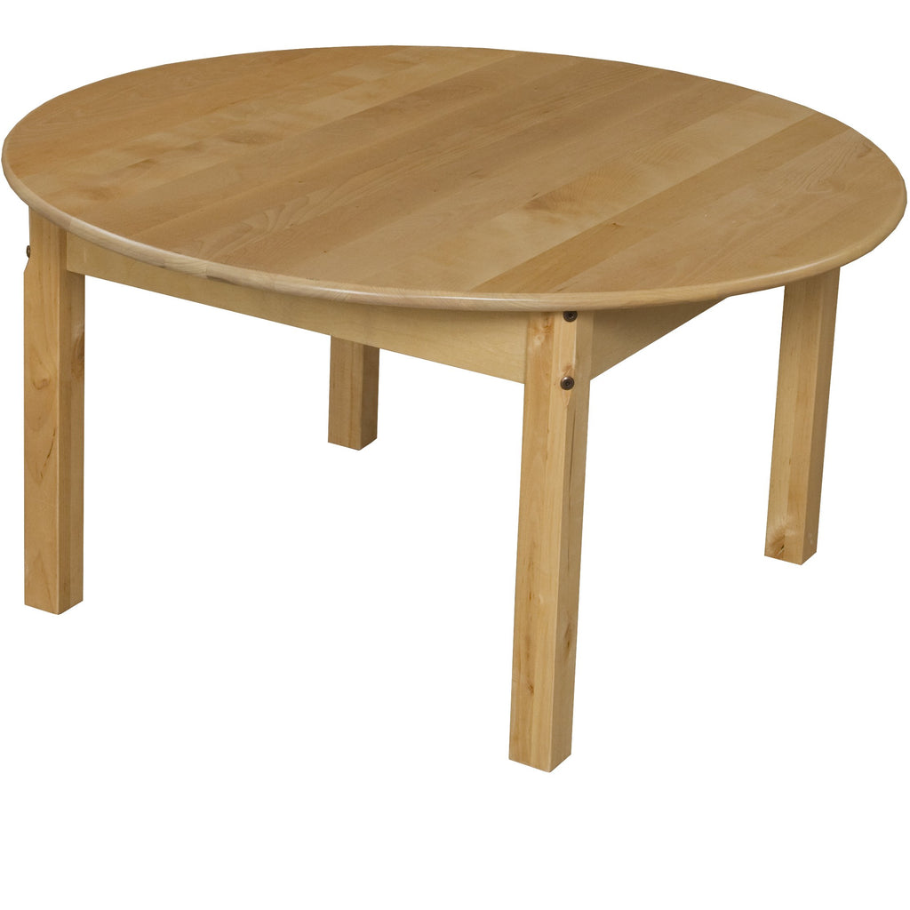 "36"" Round Hardwood Table with 20"" Legs"