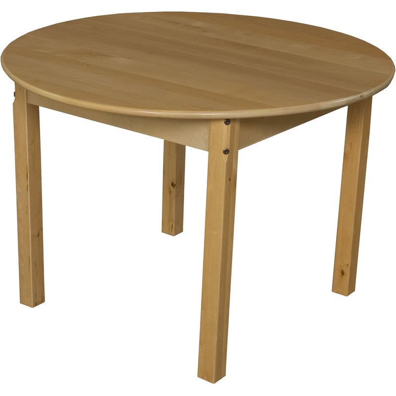 "36"" Round Hardwood Table with 22"" Legs"
