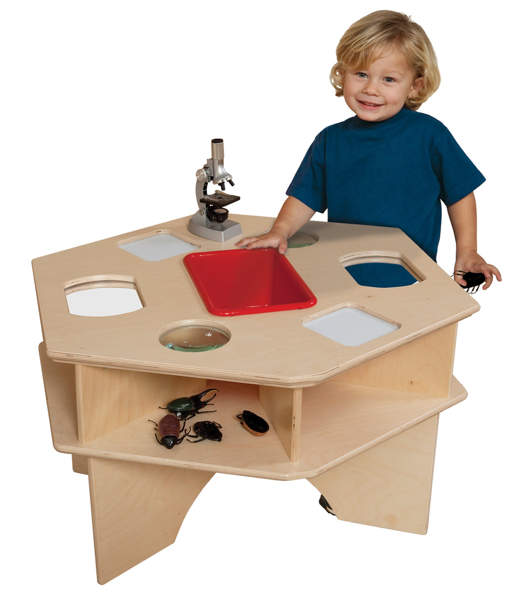 Deluxe Science Activity Table with Colored Tub