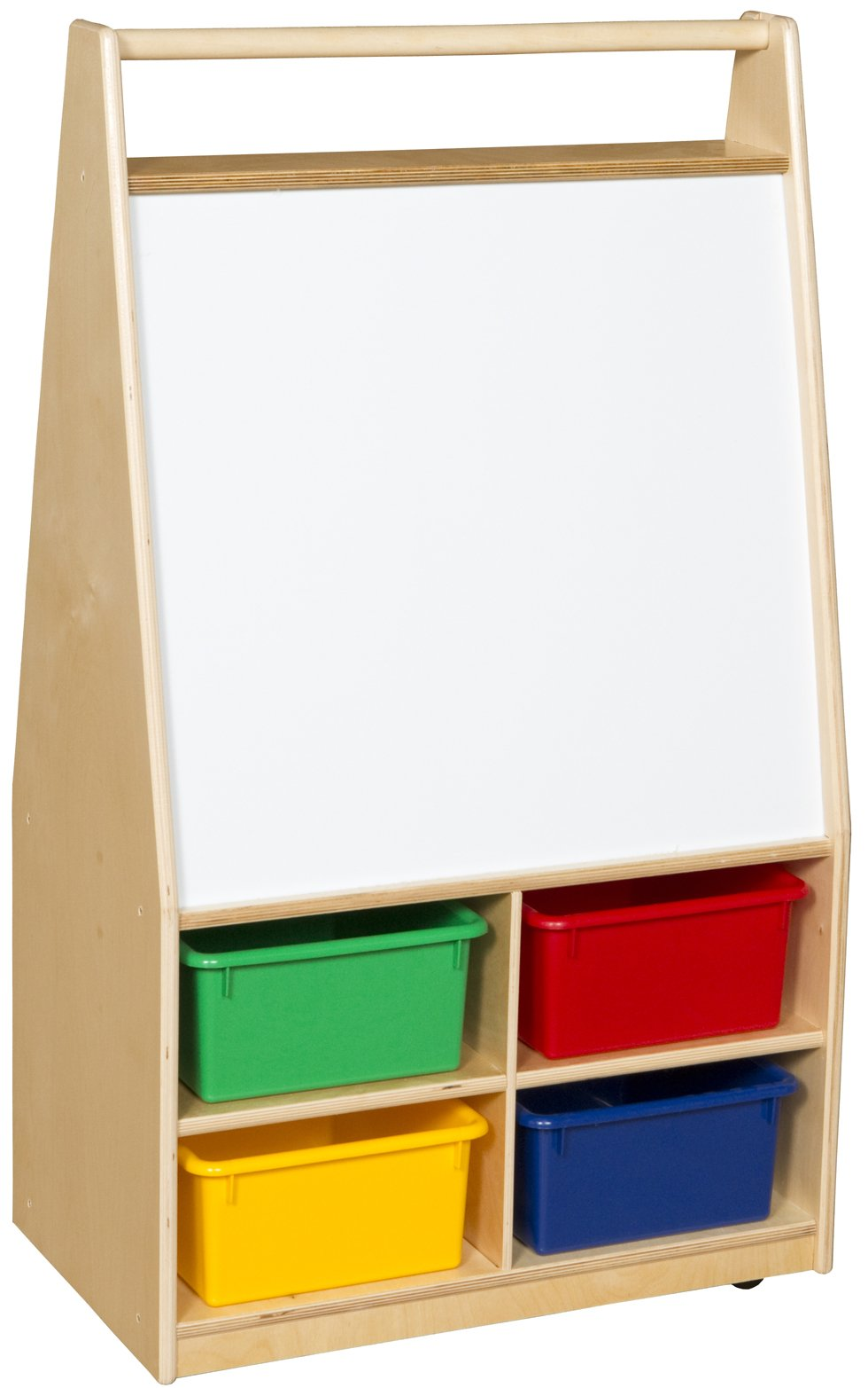 Mobile Magnetic Literacy Center with Colored Trays