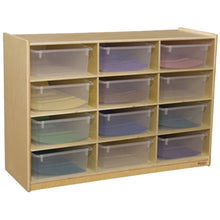 Cubby Shelves with Colored Trays