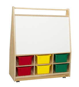 Mobile Literacy Display with Colored Trays