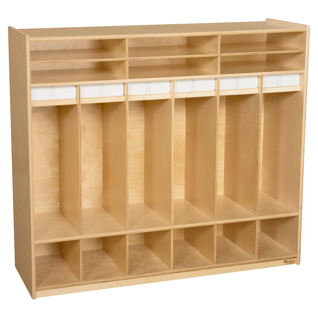 Open Six Shelf Locker