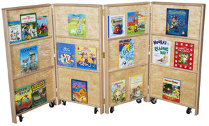 Mobile Folding Bookcase