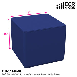 SoftZone® 18in Cube Ottoman Standard - Blue
