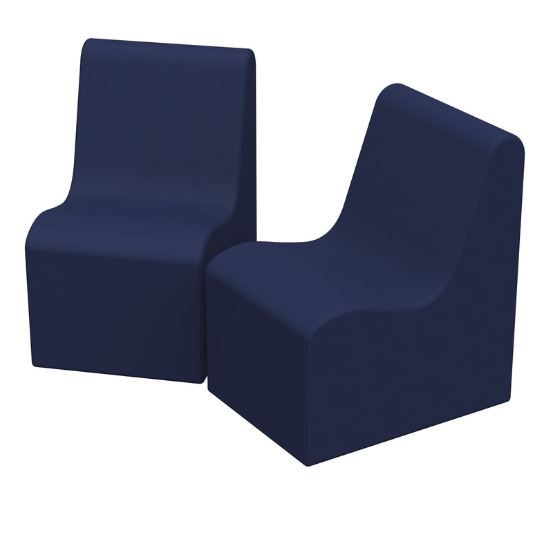 SoftZone® Wave Youth Chair 2-Pack - Navy